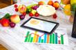 Leinwanddruck Bild - Ernährungsberatung im Internet