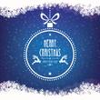 christmas ball merry christmas snowflakes background