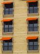 Facade of stylish modern building