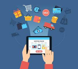 Shopping Online Background - Customer Buying Stuff Online