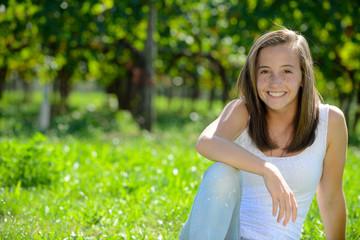 ritratto di ragazza sorridente