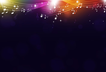 Music Notes Party Background