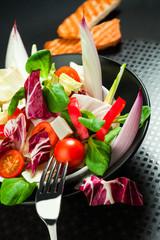 fresh  mixed salad on a bowl