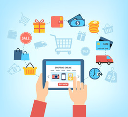 Shopping Online Background - Customer Buying Stuff Online