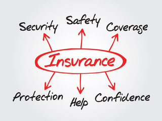Insurance Diagram Protection Coverage And Security