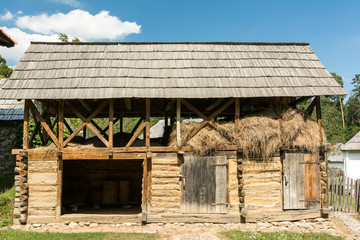 Old Animal Farm Barn In Romanian Village