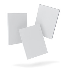 mock up blank books, isolated on white background