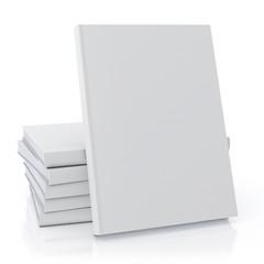 blank books mock up, isolated on white background