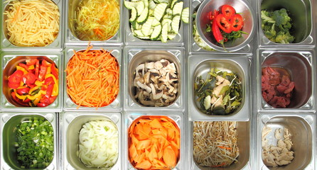 Gemüse in Saladette