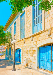beautiful old building at Kalymnos island in Greece