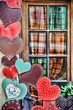 Exterior house decoration hearts