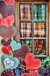 Exterior house decoration hearts