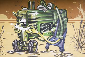 Graffiti machinery