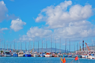 boats in Alghero port