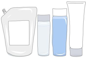 洗面用品の容器セット/無地