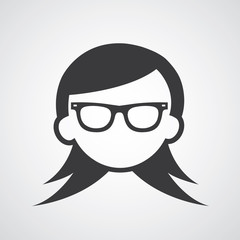 woman glasses symbol