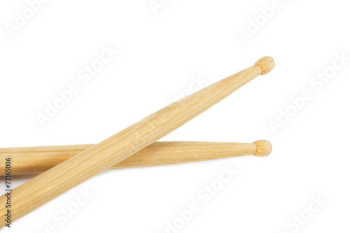 drumsticks isolated on white background - 73165086