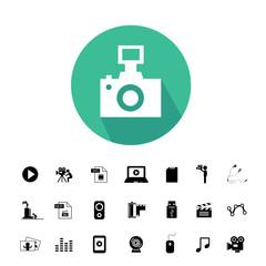 camera and media icon set