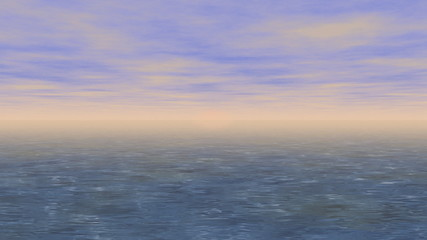 Sunset sea generated seamless loop video