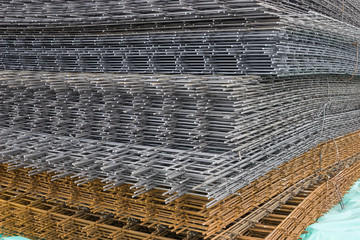 Reinforcement steel mesh background 3