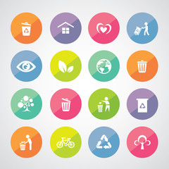 recycle and environment icon