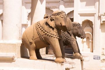 Elephant Sculptures at Old Jaina Temples of Khajuraho