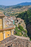 Fototapety Panoramic view of Oriolo. Calabria. Italy.