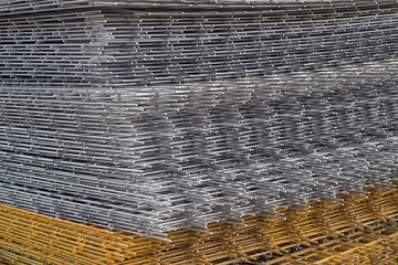Welded iron mesh panels for reinforced concrete background 3