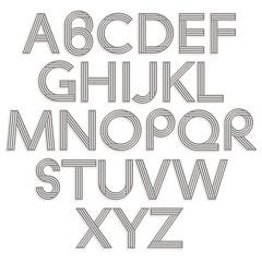 Retro style alphabet.