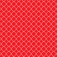 Red white quatrefoil pattern