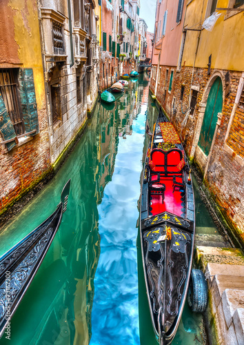 Traditional Gondolas at Venicee Italy. HDR processed - 73167200