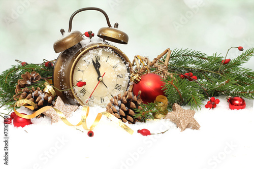 new year clock before midnight - 73167881