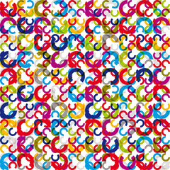 Color circles seamless pattern.