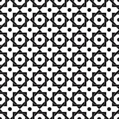 Vintage star shaped tiles seamless pattern.