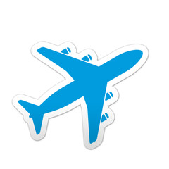 Pegatina simbolo avion