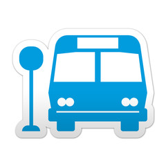 Pegatina simbolo bus stop