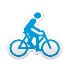 Pegatina simbolo ciclista