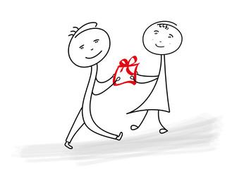 beschenken