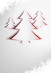 Elegancka kartka świąteczna w odcieniach czerwieni