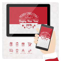 Santa's smartphone and tablet