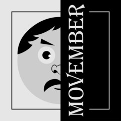 Movember - the head of a man with mustache