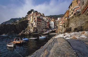 Italy, Liguria, Le Cinque Terre, Riomaggiore - FILM SCAN
