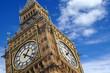 Obrazy na płótnie, fototapety, zdjęcia, fotoobrazy drukowane : The Big Ben close up on a blue sky, England United Kingdom