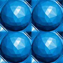 3d spheres seamless pattern.