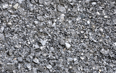 abstract background with black crushed stone
