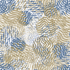 Wavy lined texture seamless pattern.