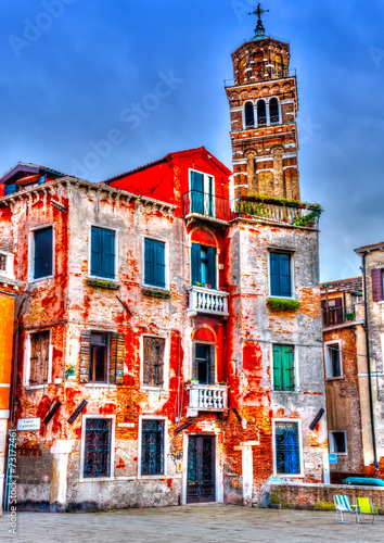 Fototapeta Beautiful old building at Venice Italy. HDR processed