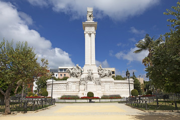 Monument of the Constitution in Cadiz