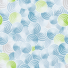 Circles and lines seamless pattern.