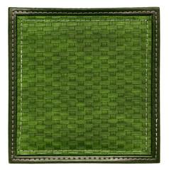 dark green wicker frame isolated